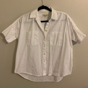 Madewell White Courier Shirt Size Small